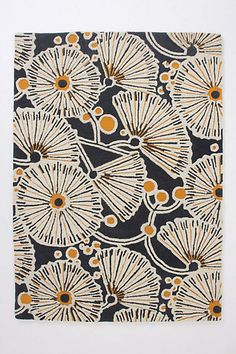 Tufted Gingko Rug #anthropologie