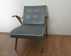 Turquoise art deco armchair by OFCURTAINS on Etsy, €350.00