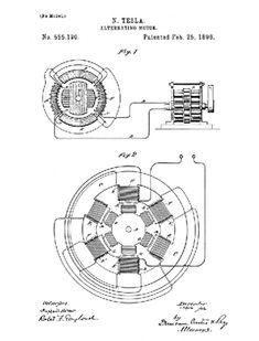 nikola tesla motor | Nikola Tesla's Patent for AC motor