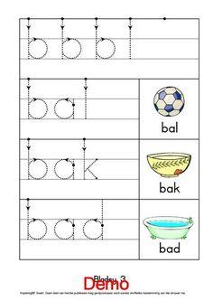 Kleuters leer om kort woorde te lees en skryf.Geskik vir kleuters in graad R en graad 1.