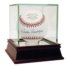Willie Randolph Autographed and Engraved Career Stats MLB Baseball