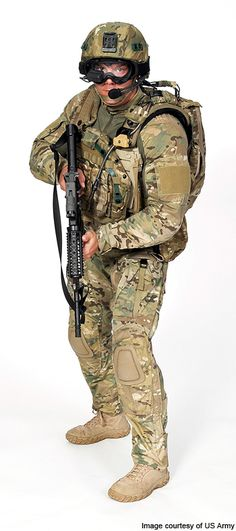 Future Force Warrior in full combat gear. Army Photography, Powered Exoskeleton, Party Jokes, Army Gears, Future Soldier, Combat Gear, Military Gear, Halloween Party Costumes, Body Armor