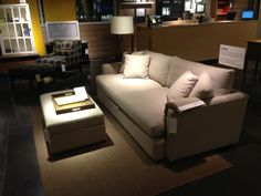 Crate and Barrel Couch and Ottoman