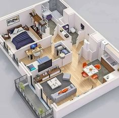 Home Design added a new photo. Modern House Floor Plans, Sims House Plans, Home Design Floor Plans, House Layout Plans, Small House Plans, House Layouts, Plan Design, Layout Design, Sims House Design