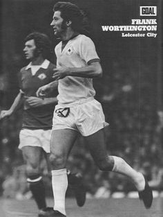 August Leicester City centre forward Frank Worthington shadowed by Manchester United winger Willie Morgan, at Old Trafford. Manchester United Players, Manchester City, Frank Worthington, College Basketball, Soccer, Eden Hazard, Old Trafford, European Football, Arsenal Fc