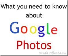 Google photo storage, tips on editing and organization and much much more!