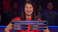 "Monday, pop culture trivia is on deck for Jackie Choi on an all-new #MillionaireTV. How is your knowledge of this category? Show us your #FinalAnswer to this question. And watch Monday's all-new ""Millionaire"" with host Chris Harrison to see if Jackie knows it herself. Find your station at MillionaireTV.com."