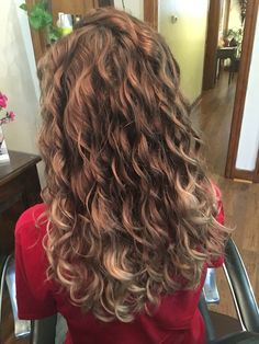 Ash brown melt. Curly hair with deva curl products