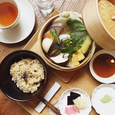 Brown rice with stea