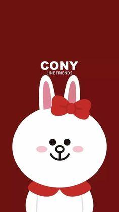 Cony Line Cony, Profile Wallpaper, Cartoon Wallpaper, Kawaii Wallpaper, Phone Backgrounds, Wallpaper Backgrounds, Iphone Wallpaper, Perfect Wallpaper, Cony Brown