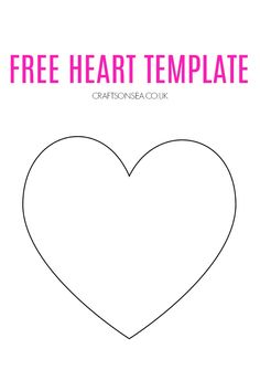 Free Heart Template Valentine Crafts For Kids, Valentines Day Activities, Valentines Gifts For Boyfriend, Valentines For Kids, Christmas Activities, Family Activities, Easy Toddler Crafts, Valentine's Day Crafts For Kids, Mothers Day Crafts