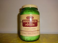 McKesson's Boric Acid in Vintage Jar