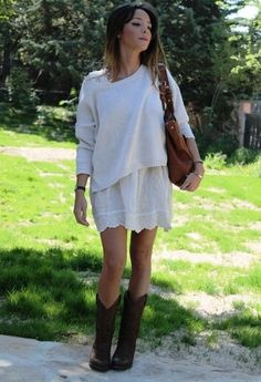 Estilo campero! vestido + botas! , Mango in Sweaters, Zara in Dresses, Sendra in Boots, Massimo Dutti in Bags
