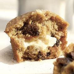 Sweet figs and a filling of tangy goat cheese give a surprising twist to these hearty breakfast muffins. Make a batch of these on the weekend and enjoy them for breakfast all week long. If you're not a fan of goat cheese, try them with cream cheese instead.
