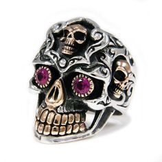 A Different Decision: Skull Wedding Rings Mens Skull Rings, Silver Skull Ring, Skull Jewelry, Silver Jewelry, Men's Jewelry, Gold Jewellery, Jewelery, Skull Wedding Ring, Gothic Rings