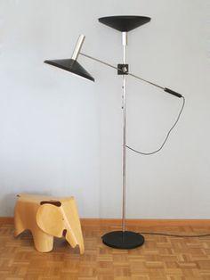 Megal AG Ständerlampe im Stil von Baltensweiler Eames, Desk Lamp, Table Lamp, Swiss Design, Mid-century Modern, Mid Century, Lighting, Interior, Plywood