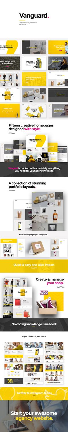 Download Vangard  A Theme for Freelancers and Agencies (Portfolio)  Theme Features  Easy-to-Use Powerful Admin Interface  One-click import of demo site  Lots of creative home and inner pages  Large collection of custom shortcodes  Multiple customizable layouts for portfolio lists  Portfolio Standard list  Portfolio Masonry list  Portfolio Pinterest list  Portfolio Gallery list  Multiple customizable layouts for portfolio single items  Portfolio Single slider layouts  Portfolio Single…