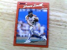 DON RUSS 1990 DAVE SMITH JR CARD 88 astros