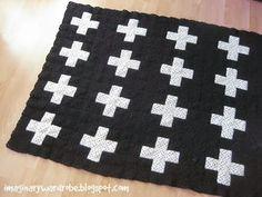 swiss cross baby blanket crochet patter