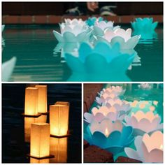 floating wedding lights | Pool Decor | Habitat Home Blog