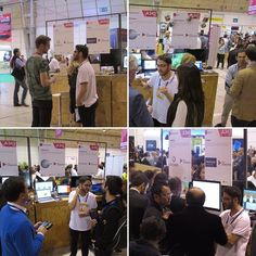 Visitors to @optishower stand in @websummit are interested to see how #gamification could help to reduce #water and #energy consumption in buildings. #hardware #iot #startup