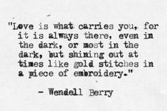 Love is what carries you//