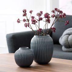 kähler hammershøi vase medium antrasittgrå