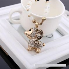 Ailisa Korean Style Crystal Cat's Eye Long Sweater Necklace with Sheep Pedant 111 Small sheep #madeinchina #necklace >http://www.dxurl.com/RxRs