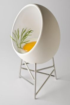 Chair or egg? Le Nid by CHRISTIAN GHION for Alessi (o