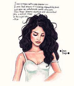 Lana Del Rey Ride artwork painting by Jesus Diego