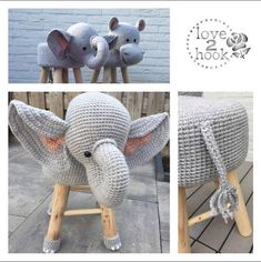 Diy Home Decor Dollar Store Crochet Elephant, Elephant Pattern, Crochet Toys, Crochet Baby, Swivel Rocker Recliner Chair, Scandinavian Dining Chairs, Stool Covers, Elephant Head, Hanging Chair From Ceiling