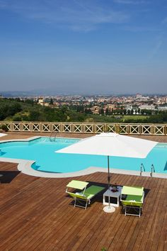 Enjoy views of the Tuscan capital from the secluded pool terrace. #Jetsetter