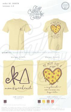 Kappa Delta | KD | My Mom Has A Pizza My Heart | Pizza Theme Shirt Design…