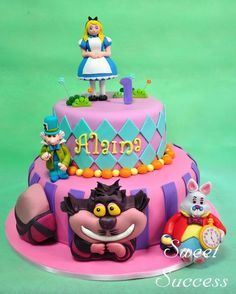 Alice in Wonderland  Cake by SweetSuccess