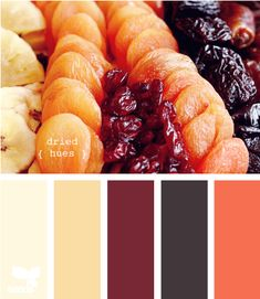 I think peachy color all the way to the right may become the bedroom color...