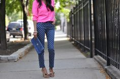WANT these Anthropologie dotted pants!