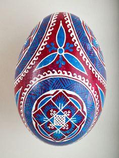Pysanka Goose Egg Ornament - Design 19