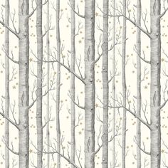 Woods and Stars by Cole & Son - Black and White - Wallpaper : Wallpaper Direct