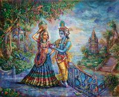 Krishan Radha painting