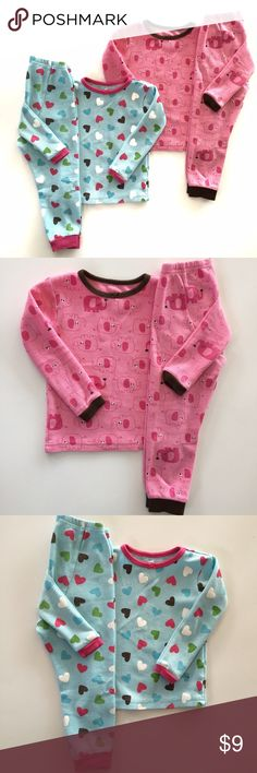 Thermal Set Bundle Carter's Just One You thermal sets.  Pink elephant set and blue heart with a few marker stains shown on last picture. Carter's Jackets & Coats