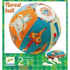 Ballonbal 'bos' van Djeco. Een ballonbal kan je steeds vervangen door een andere ballon en is lekker zacht en veilig! #speelgoed #kids