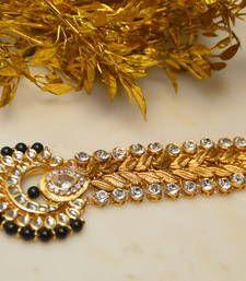 Buy Passa Earrings Set Black maang-tikka online