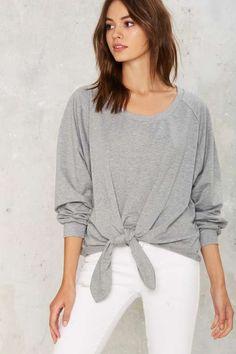 Knot Right Now Tie Sweatshirt - Best Sellers