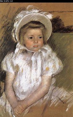 mary cassatt   Mary Cassatt the girl wearing the white bonnet
