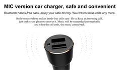 Original Xiaomi ROIDMI Bluetooth Player Handsfree Car Charger Dual USB 2.4A Battery Detection Smart