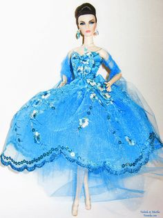 Fashion Royalty Teal Lace Fashion by Famaka on Etsy, $60.00