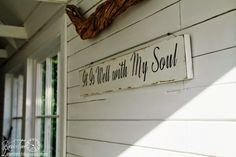 it is well with my soul wood sign - Google Search