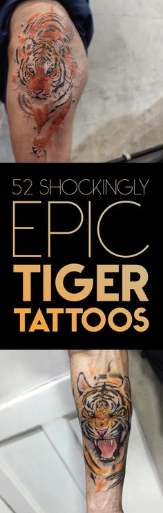 52 Shockingly Epic Tiger Tattoos