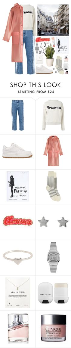 """rainy days"" by s-ensible on Polyvore featuring STELLA McCARTNEY, Maison Kitsuné, NIKE, Burberry, Comme des Garçons, Maria Francesca Pepe, Old Navy, Gucci, Casio and Dogeared"