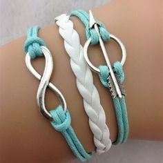 Anchor Arrow Fashionable Leather Bracelet